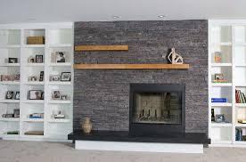 modern and chic built in shelves for living room