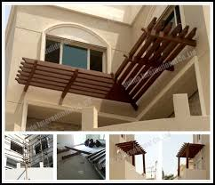 Balcony pergolas in Kuwait for sale  WPC Pergola projects manufacturer  from china (100091103).