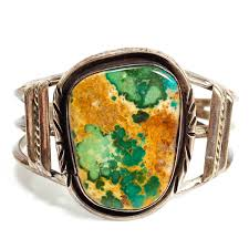 vine native american indian jewelry old southwestern sterling silver and green turquoise cuff bracelet
