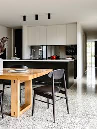 Concrete Floors Kitchen Baa O Mueble Hasta Suelo Madera Pared Tono Blanco Suelo Granito