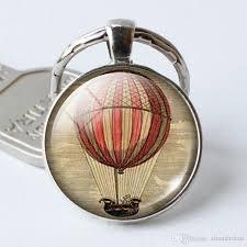 charm pendant keychain hot air balloon key ring ring ornaments inspirational e pendant necklace or keychain crystal keychain picture keychain pendant
