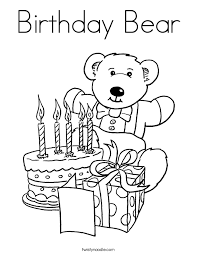 Small Picture Birthday Coloring Pages Twisty Noodle