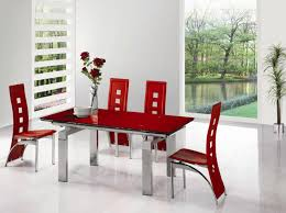 Image Modern Red Dining Luxury As Room Glass Top Shared Kids Red And White Table Set Best Kitchen Tables Sets Chairs Red Dining Table Set Retro Red Kitchen Table And Chairs