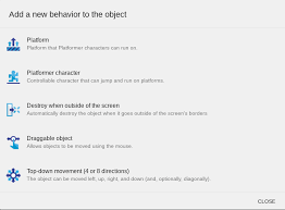 behavior list behaviors gdevelop wiki