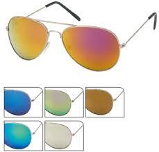 Sunglasses Pilots Golden Double Leg Pink Green Yellow Blue Pierci