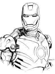 Coloriage Super Heros Imprimer Meilleur D Coration Iron Man