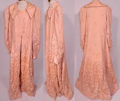 Vintage Harrods Pink Silk Quilted Gold Trim Stitched Peignoir Robe ... & Vintage Harrods Pink Silk Quilted Gold Trim Stitched Peignoir Robe Dressing  Gown. This vintage Harrods Adamdwight.com