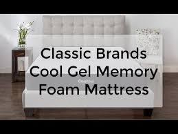classic brands memory foam mattress. Modren Brands Classic Brands Cool Gel 12 Inch Memory Foam Mattress Review Inside