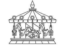 Small Picture Circus and Carnival Beautiful Carousel Coloring Pages Bulk Color