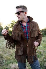 mens fringe jacket