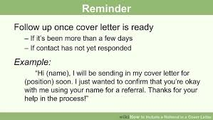 cover letter examples with referral how to include a referral in a cover letter 15 steps