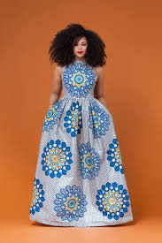 Blue African Dress Designs Dagana African Print Maxi Dress African Maxi Dresses
