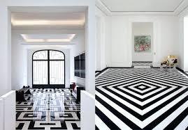 and white tile floor black black