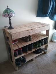 diy pallet shoe rack. Contemporary Pallet Pallet Shoe Rack  Made With 2 32x32 Pallets And The End Pieces From  Same Inside Diy A