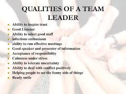 Qualities Of A Good Team Leader Ppt T Eam Building Powerpoint Presentation Id 3023471