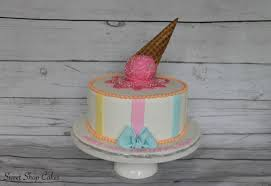 Ice Cream Themed Birthday Cake Cake By Sweet Shop Cakes Cakesdecor