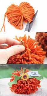 Cheap easy fall decorating ideas Porch Decor Diy Pom Pom Pumpkins Hative 30 Easy And Budget Friendly Diy Fall Decorating Ideas Hative
