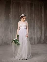 icidora romantic wedding dress grey wedding dress ballet