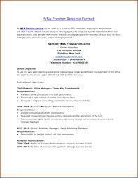 Mba Fresher Resume Pdf Resume For Your Job Application