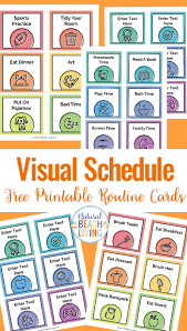 Daily Routine Printable Visual Schedule Free Printable Routine Cards Natural