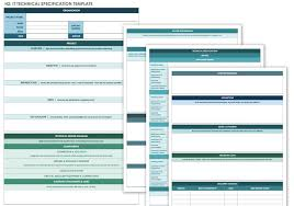 product spec sheet template free technical specification templates smartsheet