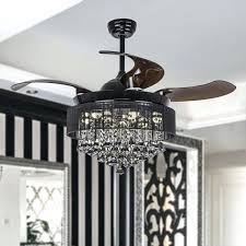 led crystal chandelier inch modern led crystal chandelier ceiling fan with lights and remote retractable blades led crystal chandelier