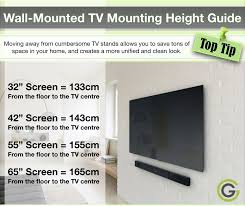 tv wall mount correct mounting height