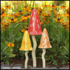 ceramic garden mushrooms summer fairy garden decor