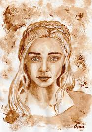 If you like to drink a cup of coffee or perhaps a whole pot each day, then decorating your home with this theme of art is a natural choice. Daenerys Targaryen Coffee Painting Album On Imgur