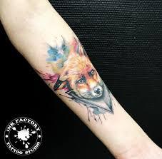 милая лиса сделано в Inkfactory