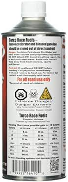 Torco Fuel Accelerator Chart Torco F500010t Unleaded Fuel Accelerator 32 Oz Bottle Case Of 6