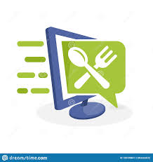 Culinary Design Concepts Vector Icon Illustration With Digital Media Concept About