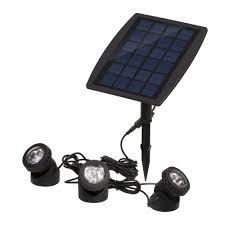Us 203 21 6pcs Lot Solar Panel With Solar Powered 3 Bulbs Submarine Spotlight 18led Rgb Cool White Garden Pool Pond Lamp Underwater Lights In Solar