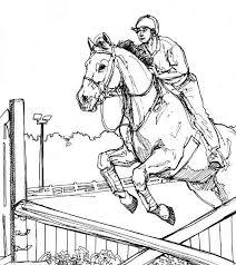 Kids N Fun Kleurplaat Paarden Springpaard En Ruiter