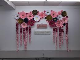 Tissue Paper Flower Wall Art Wedding Backdrop Paper Flowers Diy Backdrop Bride Paper Flower Wall