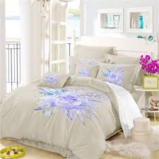 imitation embroidered and painted series pattern leaf design fresh and comfortable high grade bedding set