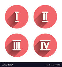 Roman 3 Roman Numeral Icons Number One Two Three