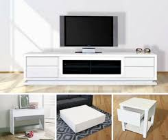 stylish living room furniture. Gloss White Living Room Package Stylish Furniture U