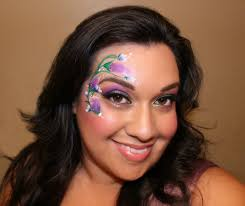 spring fl face paint design by shawna del real