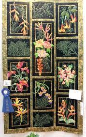 Beautiful Hawaiian Style Quilt Hawaiian Quilt Shops Kauai Hawaiian ... & ... Hawaiian Quilt Shops Kauai Kauai Quilt Show 2015 Hawaiian Tropical  Flowers By D Mccalla Winner Of ... Adamdwight.com