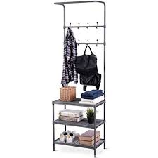 Shoe Coat Hat Racks Custom Amazon TANGKULA Entryway Hall Tree MultiPurpose Metal Coat And