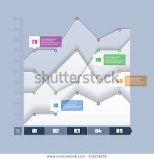 Um Chart Area Chart Graph Infographics Element Vector Stock Vector