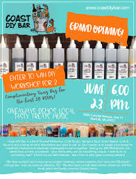 bar grand opening flyer coast diy bar will have its grand opening on june 23rd member