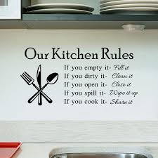 kitchen rules living room kitchen vinyl wall stickers for kids room lettering art quote decals home poster sofa wall decoration in wall stickers from home  on lettering wall art quotes with kitchen rules living room kitchen vinyl wall stickers for kids room