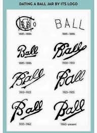 Kerr Mason Jar Age Chart Ball Jar Age Chart Vintage Mason Jars Mason Jar Diy Ball