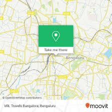 how to get to vrl travels bangalore in