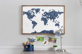 instead of throwing puzzles away or donating unused puzzles repurpose them into modern map wall art  on puzzle into wall art with diy upcycled puzzle map wall art do it yourself ideas and projects