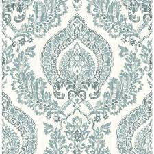 What Is Damask Peel And Stick 30 Sq Ft Blue Vinyl Damask Self Adhesive Peel And Stick Wallpaper