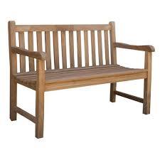 classic teak outdoor bench seat