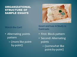 contrast essay analyzing the point by point organizational 3 organizational structure of sample essays